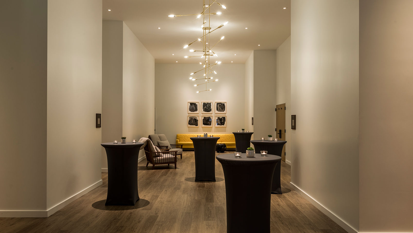 Pre-function event space at Kimpton Everly